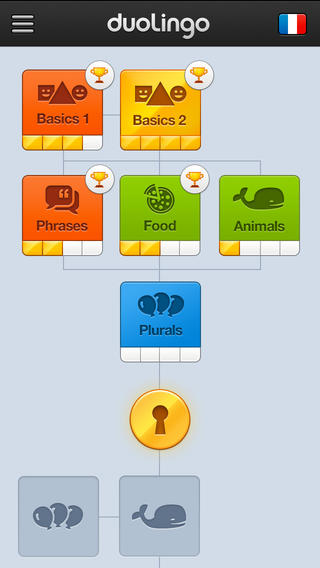 Duolingo's prior interface.